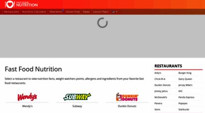 similar web sites like fastfoodnutrition.org