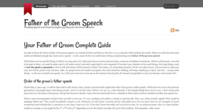 Welcome to Fatherofgroom-speech net - Father of the Groom