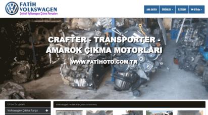 fatihoto.com.tr - volkswagen çıkma parça  fatih volkswagen ankara