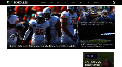 fbschedules.com - fbschedules.com  college and pro football schedules
