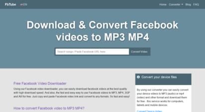 fbtube.biz - online facebook video downloader - free download facebook video in hd