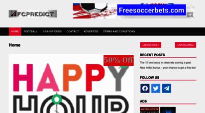 fcpredict.com - fcpredict: football prediction site, under over sure prediction tips.