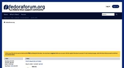 fedoraforum.org - fedoraforum.org