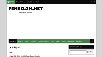 fenbilim.net - ana sayfa - fenbilim.net
