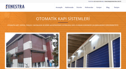 fenestra.com.tr - fenestra  otomatik kapı ve panjur sistemleri