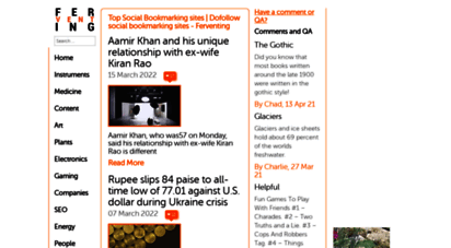 ferventing.com - top social bookmarking sites  dofollow social bookmarking sites - ferventing