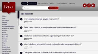 fetva.net - fetva - dini sorular ve cevapları