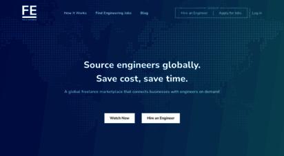 fieldengineer.com - global freelance marketplace connecting engineers & businesses