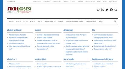 fikih.info - fıkıh köşesi  www.fikih.info