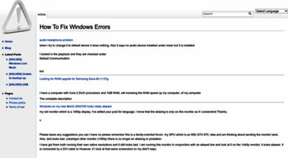 fileerrors.com - how to fix windows errors