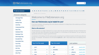 fileextension.org - file extensions - fileextension.org