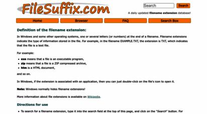 filesuffix.com - filename extension database  filesuffix.com