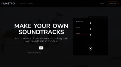 filmstro.com - filmstro  adaptive royalty free music library & software