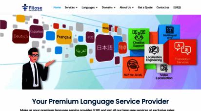 filose.com - software localization, japanese, english, indian languages translation services