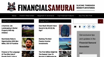 financialsamurai.com - financial samurai - slicing through money´s mysteries