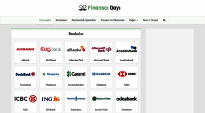 finanscidayi.com - finanscı dayı ile kredi hesaplama - banka kredileri - kredi kartları