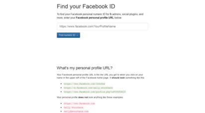 findmyfbid.com - find my facebook id
