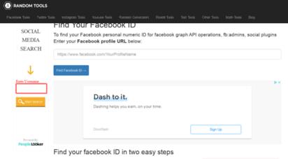 findmyfbid.in - find facebook id in two simple steps  find facebook id