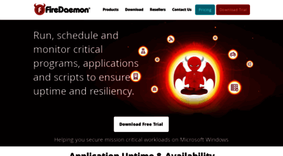 firedaemon.com - firedaemon  run as service, monitor and manage applications as windows services