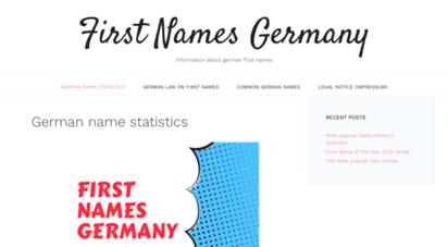firstnamesgermany.com - first names germany: german name statistics