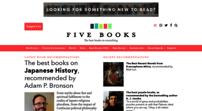 fivebooks.com - five books  the best books recommended by leading experts