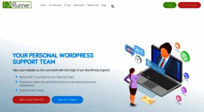 fixrunner.com - wordpress support & help services - get live help 24/7
