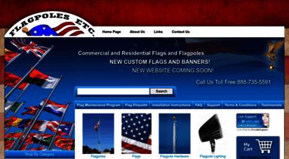 flagpolesetc.com - flagpoles, flags and hardware - flagpoles etc.