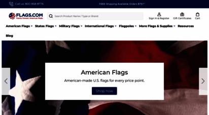 flags.com - flags.com  family owned. american made. flag store.