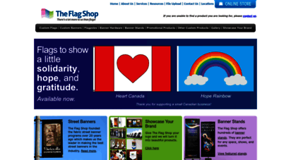 flagshop.com - flags  banners  flagpoles  banner hardware  banner stands  tablecloths  tents  fence wraps