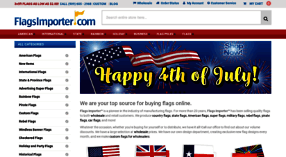 flagsimporter.com - quality retail and wholesale flags from $1.80 3x5´  flagsimporter.com