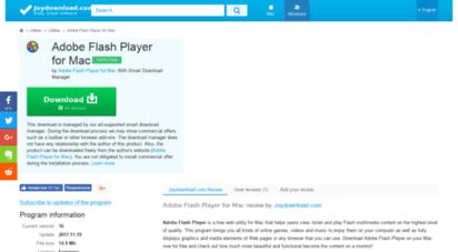 Adobe Flash Player For Mac