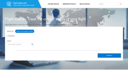 flight-status.info - check flight status / flight status tracker / flight tracking
