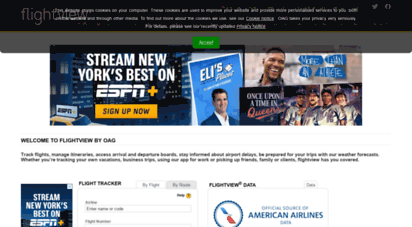 flightview.com - real time flight tracker & airport delays from flightview