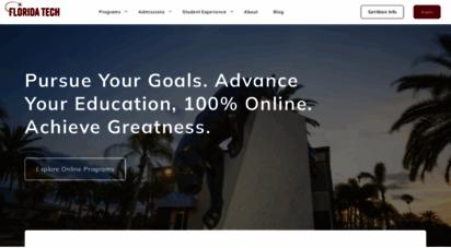 floridatechonline.com - online degrees & mini mba programs - accredited - florida tech university online