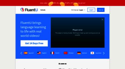 fluentu.com - language immersion online  learn a language with videos  fluentu