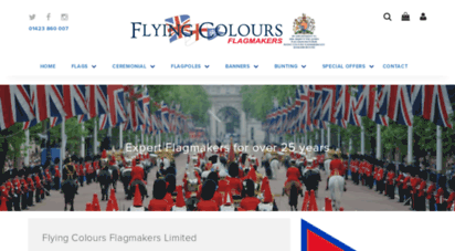 flyingcolours.org - flying colours flagmakers, manufacturers of flags to britain and the world, royal warrant holders to the queen and prince charles. cheao flags