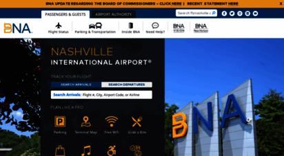 flynashville.com - nashville international airport - bna