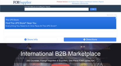 fobsupplier.com - international b2b marketplace of suppliers, manufacturers, foreign importers & buyers