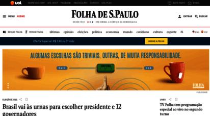 folha.uol.com.br - folha de s.paulo: notícias, imagens, vídeos e entrevistas