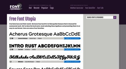 fontsquirrel.com - free fonts! legit free & quality  font squirrel