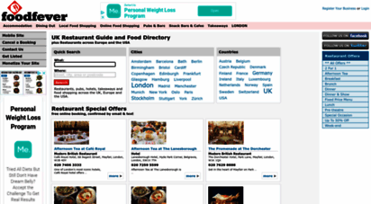 foodfever.com - foodfever - food and restaurant guide for london, uk and europe