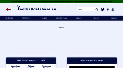 footballdatabase.eu - footballdatabase.eu, base de données et stats de joueurs de foot, transferts, matchs, clubs, live, vidéos...