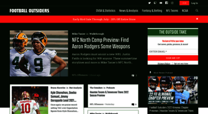 footballoutsiders.com - home  football outsiders