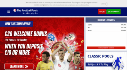 Welcome to Footballpools com - Football Pools | Classic
