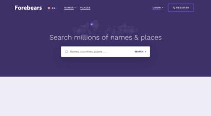 forebears.io - forebears: names & genealogy resources