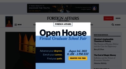 foreignaffairs.com - foreign affairs magazine: anlysis and debate of foreign policy, geopolitics and global affairs