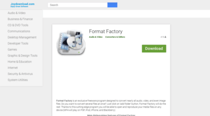 Welcome to Format-factory joydownload com - Format Factory