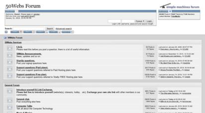 forum.50webs.com - 50webs forum - index