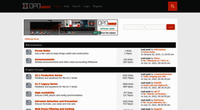 Welcome to Forum opnsense org - OPNsense Forum - Index