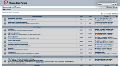 forums.debian.net - debian user forums • index page